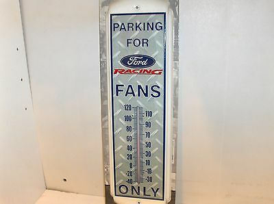 Ford Racing Fans Parking`Metal`Thermometer`New`Free 2US