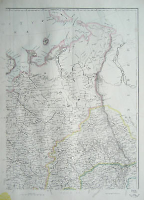 RUSSIA in EUROPE North East Map DISPATCH ATLAS 1860