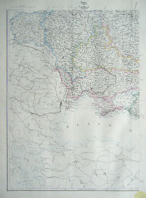 RUSSIA in EUROPE South West Map DISPATCH ATLAS 1860