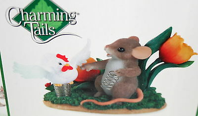 Charming Tails Mice Feeling like Spring Chicken Figure New Box Fitz & Floyd 2006
