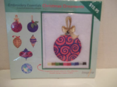Embroidery Essentials Christmas Ornaments 5 Designs Nwt Machine Embroidery Desig