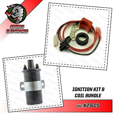 Powerspark Electronic Ignition Kit & Coil for Lucas 25D 23D and DM2 Distributors