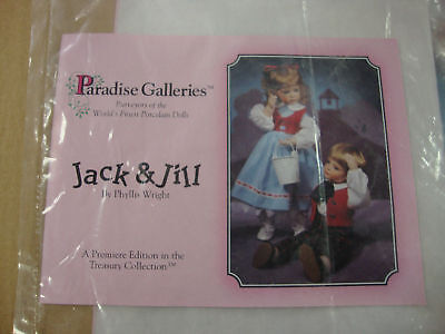 """Paradise Galleries Jack and Jill Dolls--Music Boxes--14"""" Tall---With COA"""