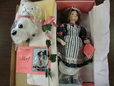 """Paradise Galleries--Mary--Music Box Porcelain Doll--14"""" Tall---With COA"""