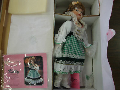 """Paradise Galleries--Kelly--Music Box Porcelain Doll--14"""" Tall---With COA"""