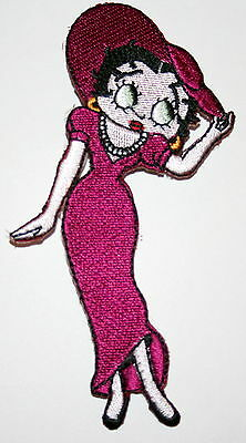 Vintage Betty Boop Fancy Hat & Dress iron on Cloth Patch New NOS