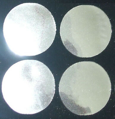 40mm ROUND SILVER mirror iron-on transfer sequin patch