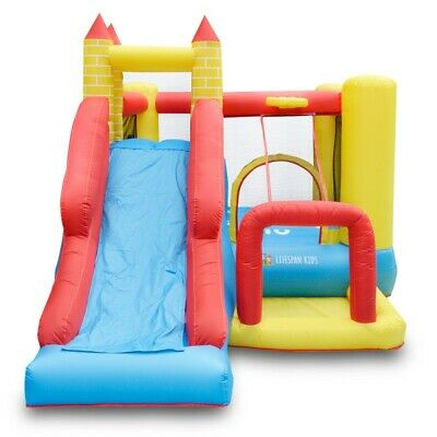 Lifespan Kids Bouncefort Plus 2 Inflatable Jumping Castle Backyard Fun