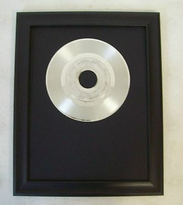 Platinum/Silver Plated Record White Gold Award Trophy Blank to Custom RIAA Style