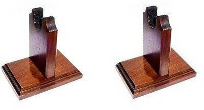 Two Piece Walnut Sword or Knife Stand - Table Top - Case or Mantel Display