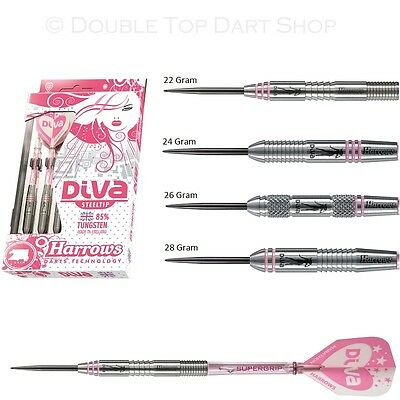 Harrows Diva Ladies 85% Tungsten Steel Tip Darts - Choose Style and Weight