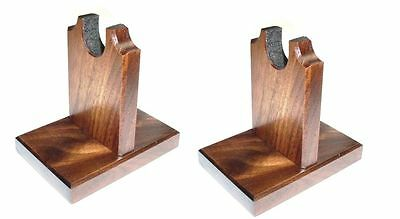 Walnut Two Piece Sword Display / Knife Stand  - Curio Mantel or Table Top
