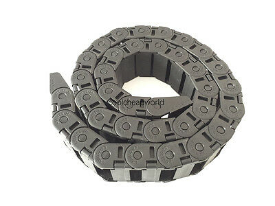 """1pcs Cable Drag Chain Wire Carrier 18*37mm 18mm x 37mm R48 1000mm 40"""" for CNC"""