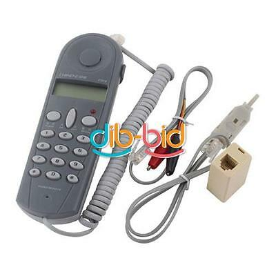 New Telephone Phone Butt Test Tester Lineman Tool Cable Set EB
