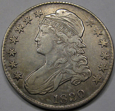 1830 Capped Bust Half Dollar. Choice AU. Rare Nice Original. Shows Great++