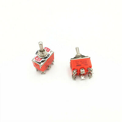 5pcs 6-Pin Toggle DPDT ON-OFF-ON Switch 15A 250V