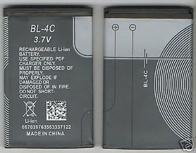 Lot 2 New Battery For Nokia Bl4C 6101,6133,7270,6066