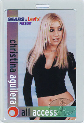 Christina Aguilera 2000 Tour Laminated Backstage Pass