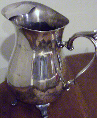 International Silver Co Silver Plate Footed Pitcher Jug