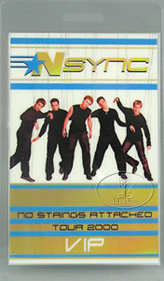 NSYNC 2000 TOUR LAMINATED BACKSTAGE PASS Justin Timberlake