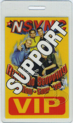 NSYNC 1999 TOUR LAMINATED BACKSTAGE PASS Justin Timberlake