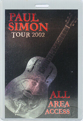 PAUL SIMON 2002 LAMINATED BACKSTAGE PASS All Access