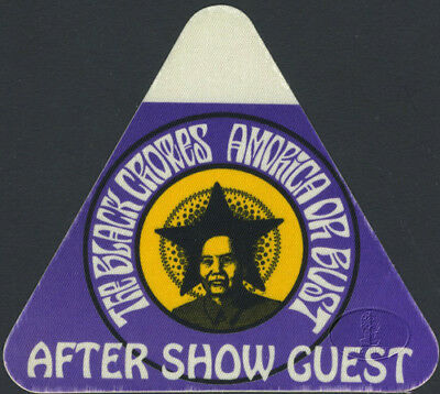 Black Crowes 1995 Amorica Or Bust Tour Backstage Pass