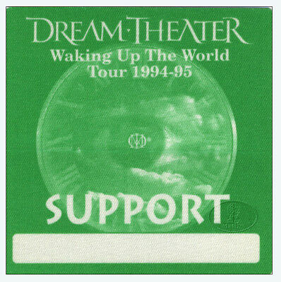 DREAM THEATER 1994-95 Backstage Pass SUPPORT green