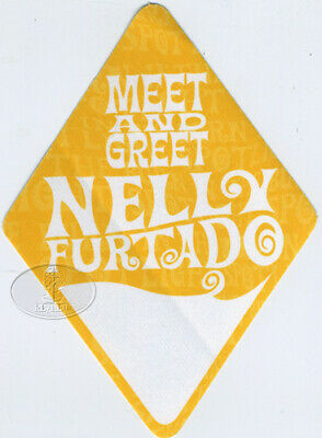 Nelly Furtado 2002 Tour Backstage Pass
