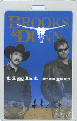 BROOKS & DUNN 1999 TIGHT ROPE Laminated Backstage Pass