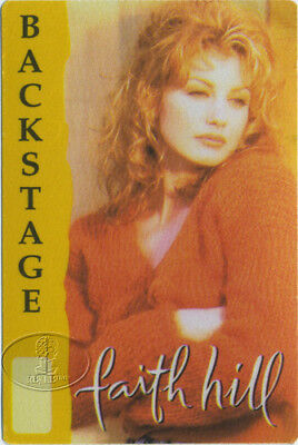 Faith Hill 1995 It Matters To Me Tour Backstage Pass