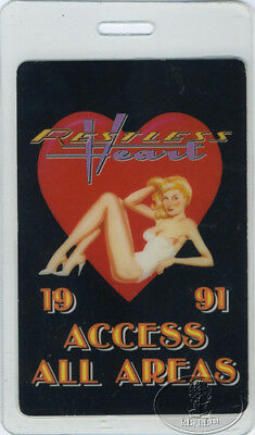 RESTLESS HEART 1991 Laminated Backstage Pass