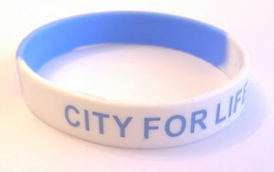 Manchester City Wristband CITY FOR LIFE Blue White Gift