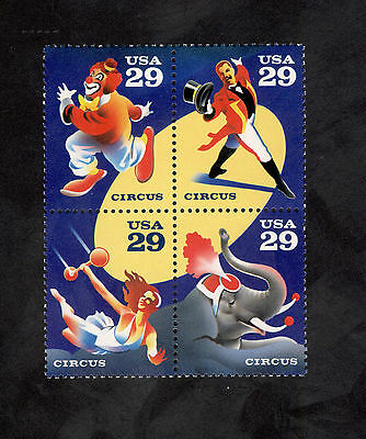2750-3 Circus Performers Complete Circle Block  Mint/nh (free shipping offer)