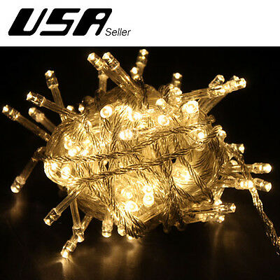 10M 100 LED Indoor and Outdoor Christmas Party Garden String Fairy Light Gold