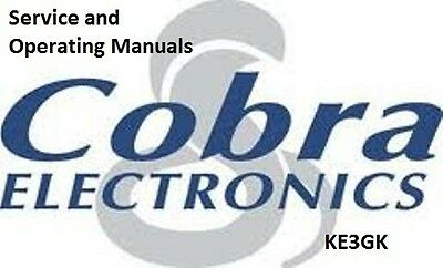 Cobra CB Service and Operator Manuals Library on CD