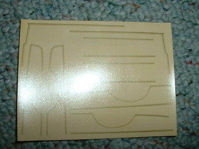 AMT decals for Gold panel stripes etc  etc