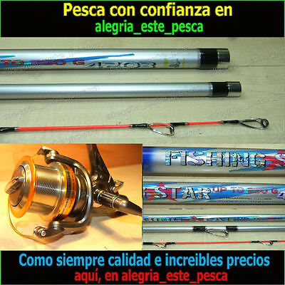 Pesca Equipo Surf Cast (Fishing Star 4.20 Puntera Hibrida + Deep Runner 80)