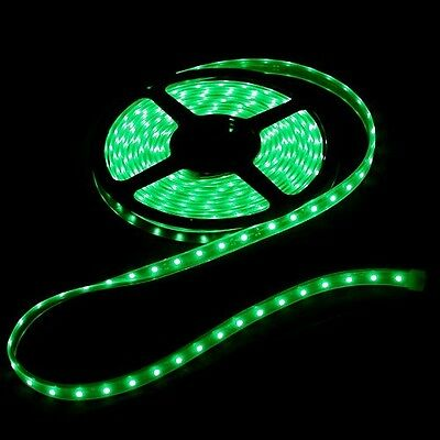 STRISCIA LED VERDE BOBINA 5 METRI 5M ALTA LUMINOSITA 300 LED STRIP ILLUMINAZIONE