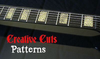 Snake Skin Blocks Fret Markers Inlay block Sticker Decal for ANY BASS and GUITAR