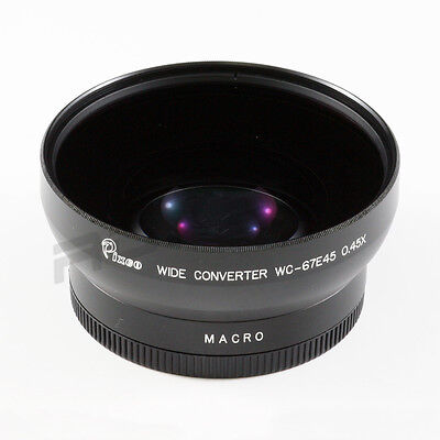 PIXCO 0.45x DSLR Wide Angle Conversion Lens 67mm for CANON SONY OLYMPUS NIKON