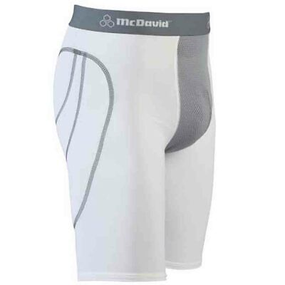 McDavid 7212CT Vented Padded W/ Cup Pocket Mens White Medium