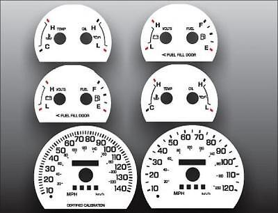 1998-2005 Ford Crown Victoria Sport White Face Gauges for Instrument Cluster