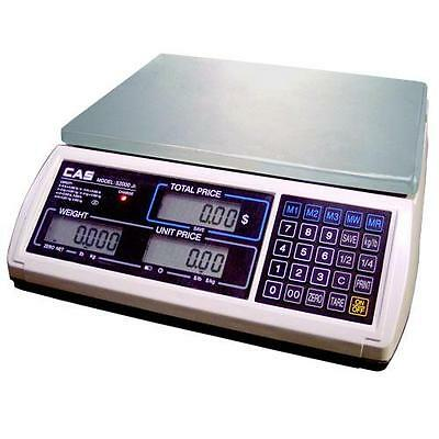 CAS JR-S-2000-30 Legal for Trade Price Computing Scale 30 x 0.005 lb