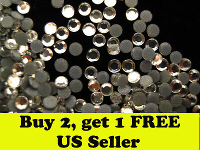 Clear 3mm SS10 Iron on hotfix rhinestone 1440 pcs crystal clear  Fast delivery!!