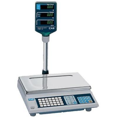 """CAS AP-1-15 """"NTEP"""" approved trade  Price Computing Scale 15 lbs x 0.005 lbs"""