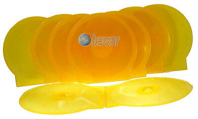 Clear Round Plastics CD DVD Cover Case With Lock 10 Pieces