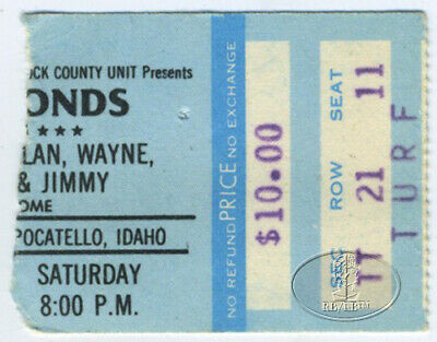 The Osmonds 1979 Concert Ticket Stub Donny Marie Wayne Jimmy Alan