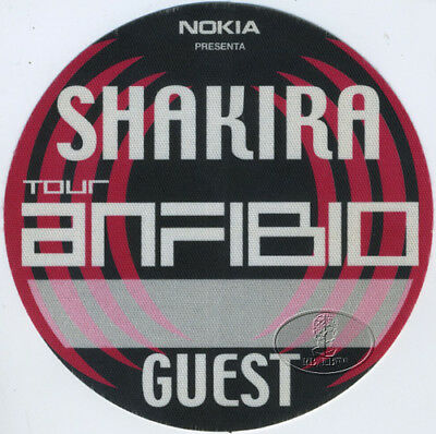 SHAKIRA 2000 ANFIBIO TOUR Backstage Pass GUEST SOUTH AMERICA The Voice