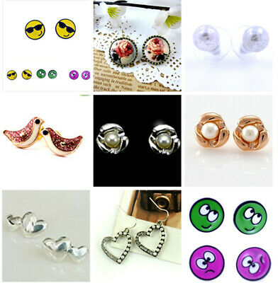 Vintage bronze frame resin rose flower stud earrings
